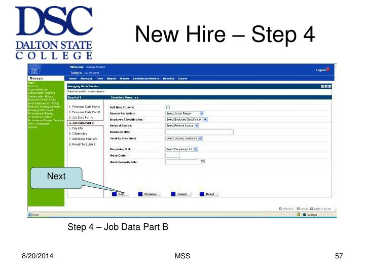 New Hire – Step 4