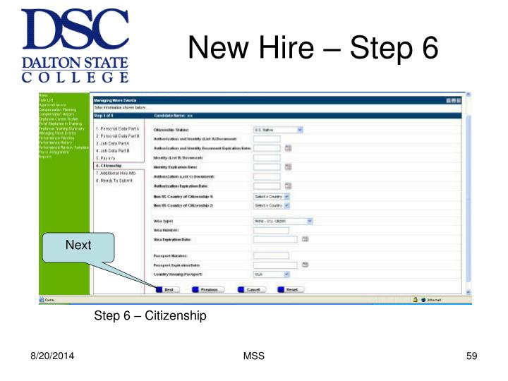 New Hire – Step 6
