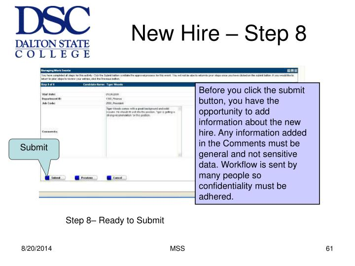 New Hire – Step 8