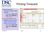printing timecard