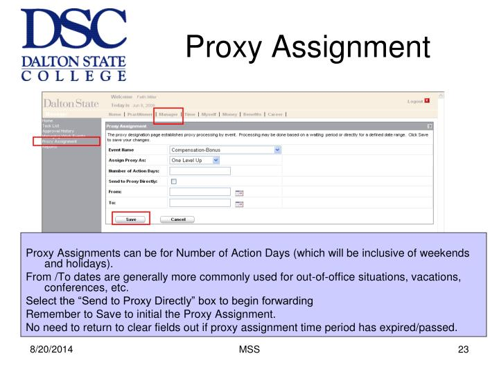 Proxy Assignment
