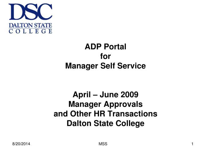 ADP Portal