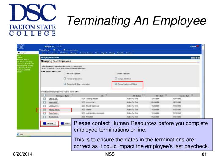 Terminating An Employee