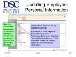 updating employee personal information