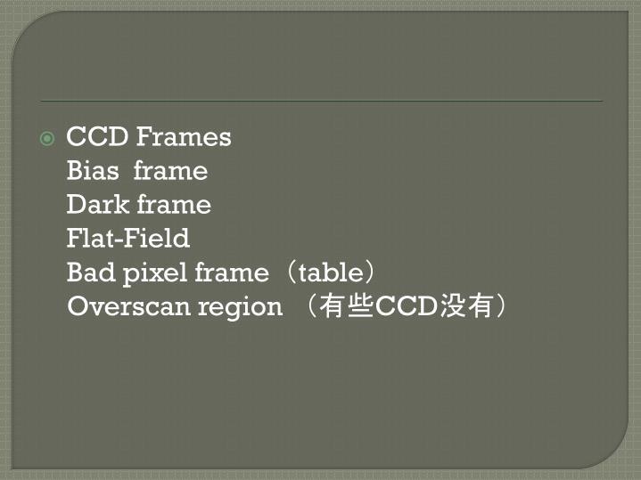 CCD Frames