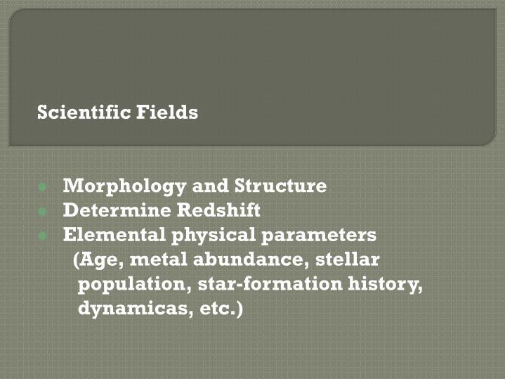 Scientific Fields