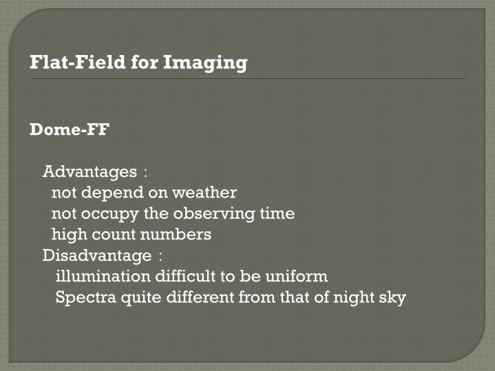 Flat-Field for Imaging
