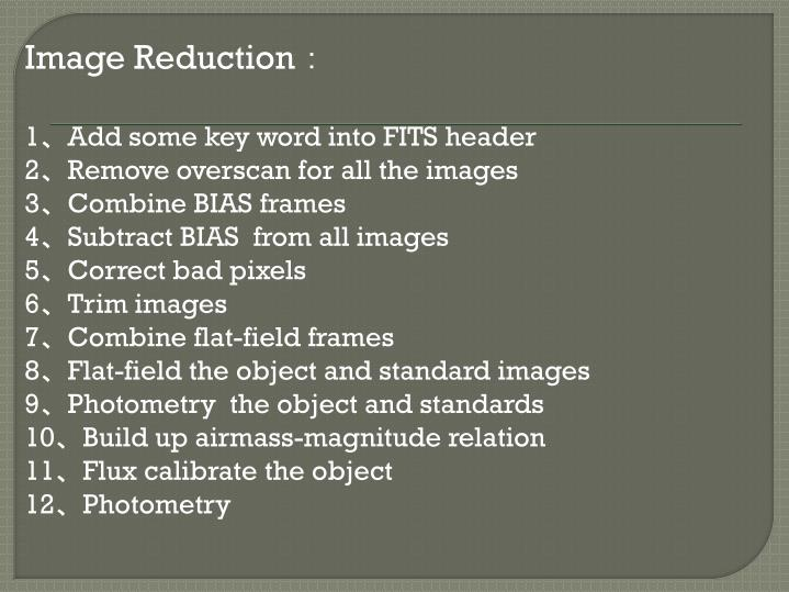 Image Reduction