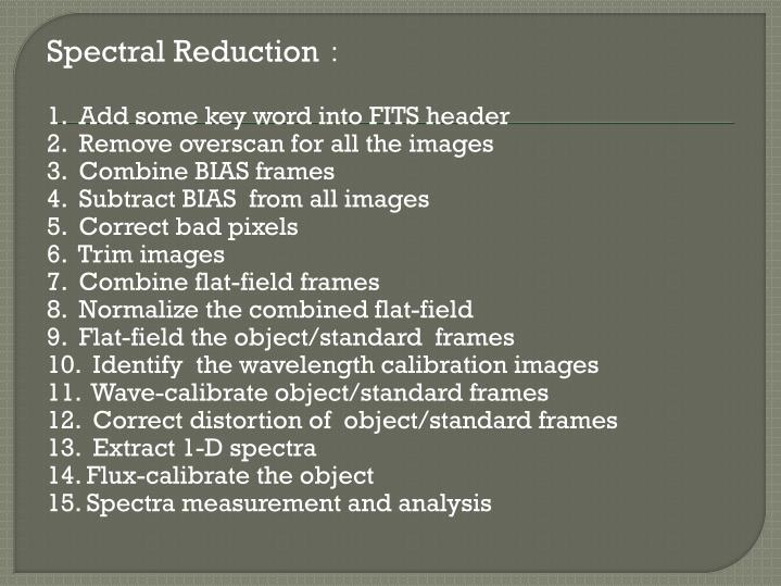 Spectral Reduction