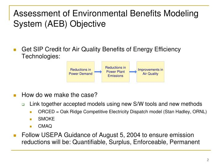 Assessment of Environmental Benefits Modeling System (AEB) Objective