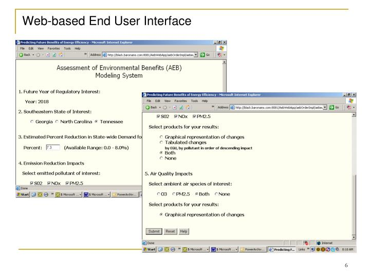 Web-based End User Interface