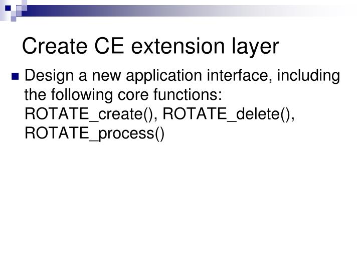 Create CE extension layer