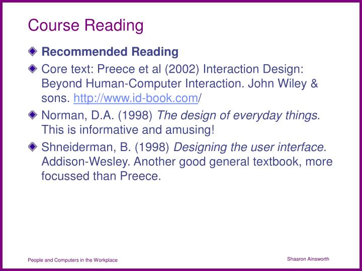 Course Reading