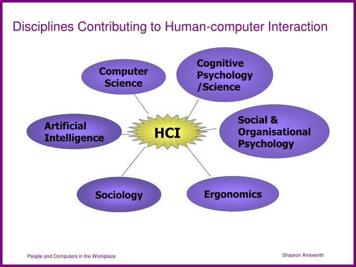 Disciplines Contributing to Human-computer Interaction