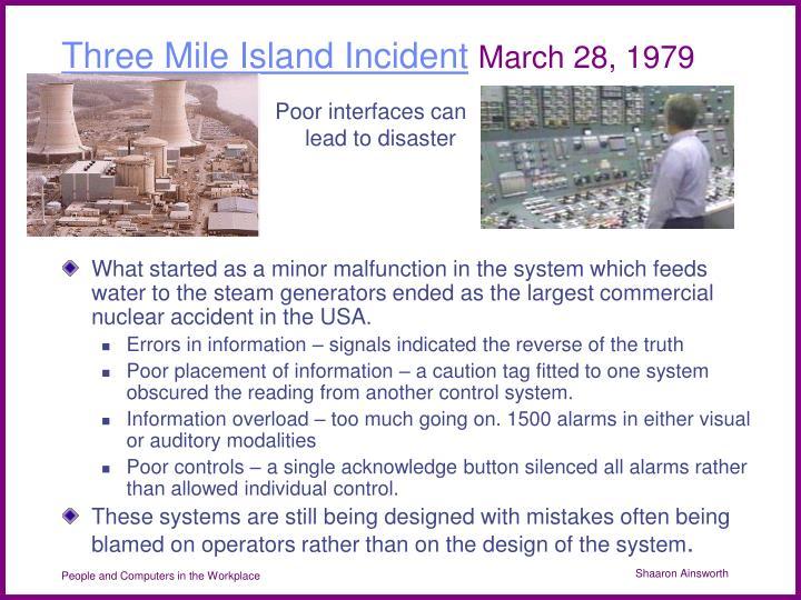 Three Mile Island Incident