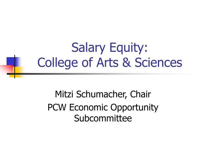 Salary Equity: