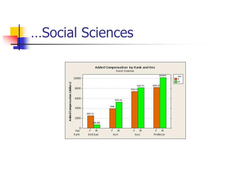 …Social Sciences