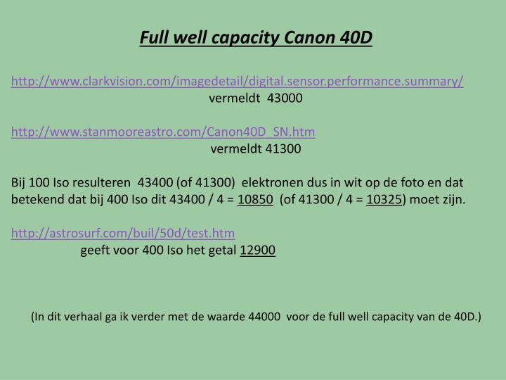 Full well capacity
