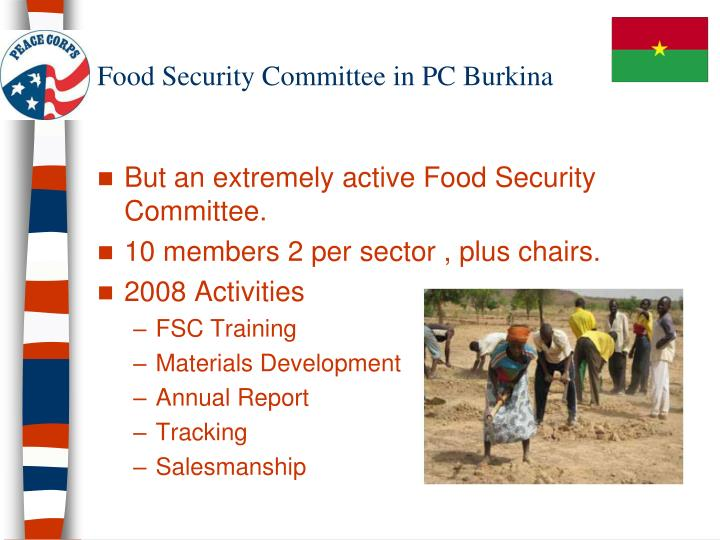 Food Security Committee in PC Burkina