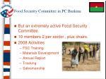 food security committee in pc burkina