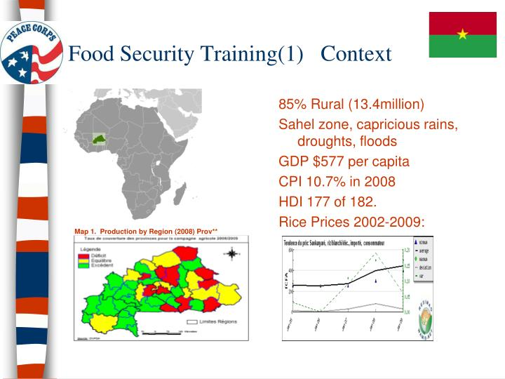 Food security training 1 context