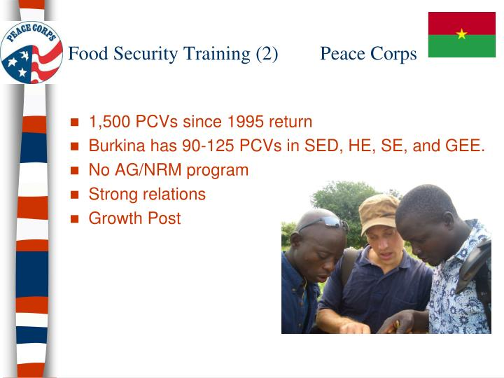 Food Security Training (2) 	Peace Corps