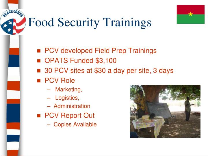 Food Security Trainings