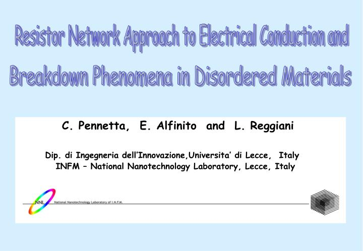 Resistor Network Approach to Electrical Conduction and