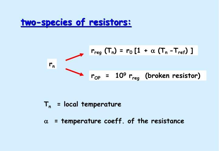 two-species of resistors: