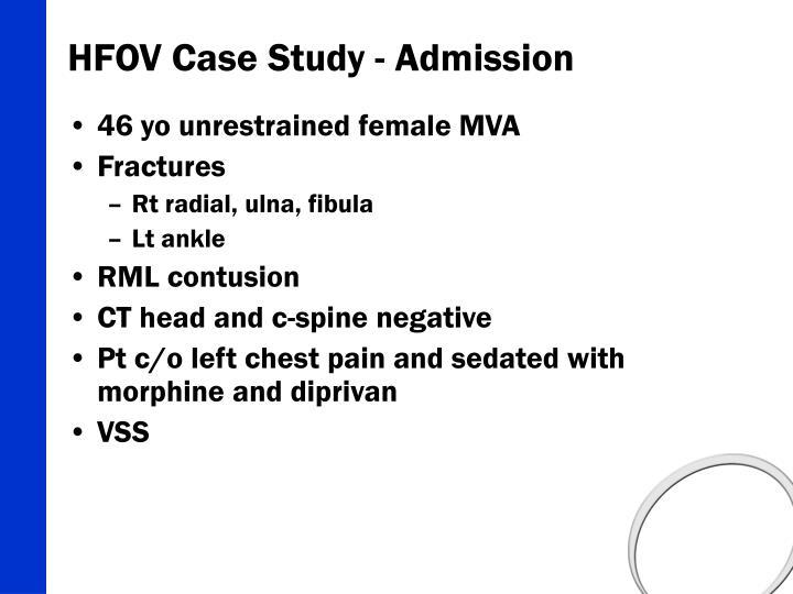HFOV Case Study - Admission