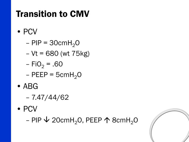 Transition to CMV