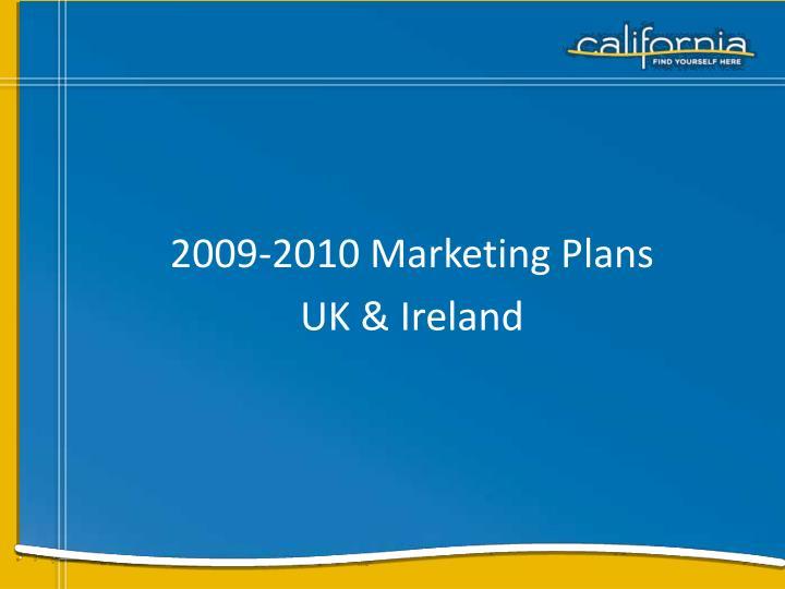 2009-2010 Marketing Plans