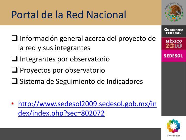Portal de la Red Nacional