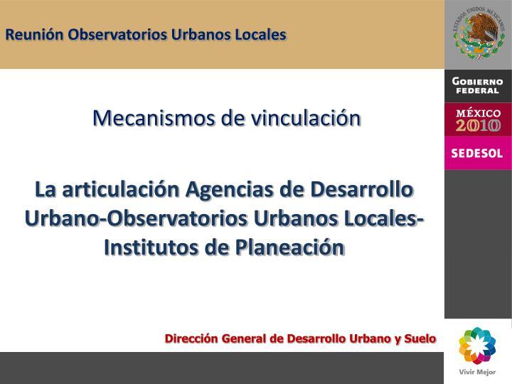 Reunión Observatorios Urbanos Locales