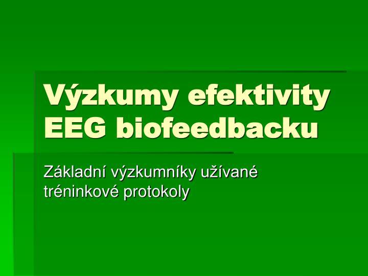 v zkumy efektivity eeg biofeedbacku