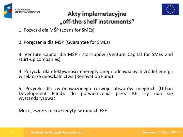 1. Pożyczki dla MŚP (Loans for SMEs)