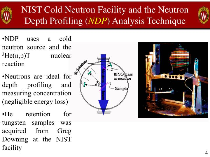 NIST Cold Neutron Facility and the Neutron Depth Profiling (