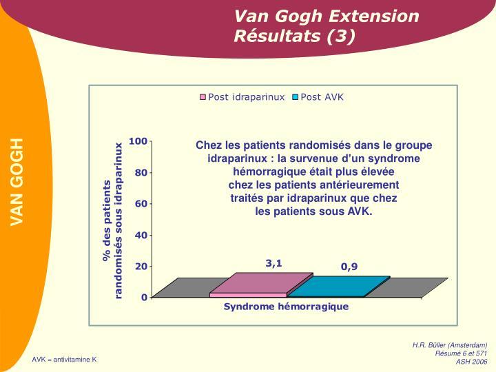 Van Gogh Extension Résultats (3)