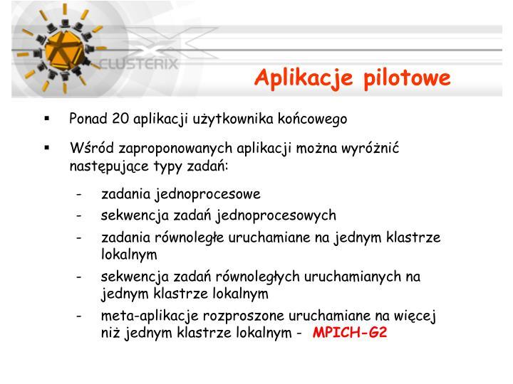 Aplikacje pilotowe
