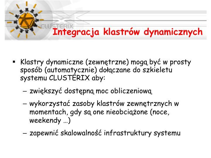 Integracja klastrów dynamicznych