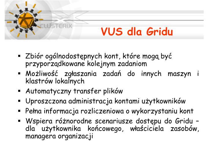VUS dla Gridu