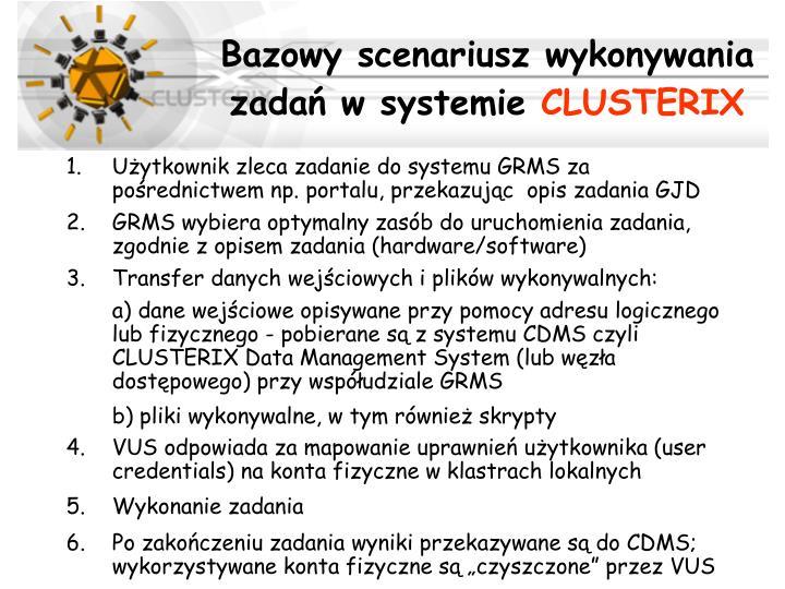 Bazowy scenariusz wykonywania zadań w systemie