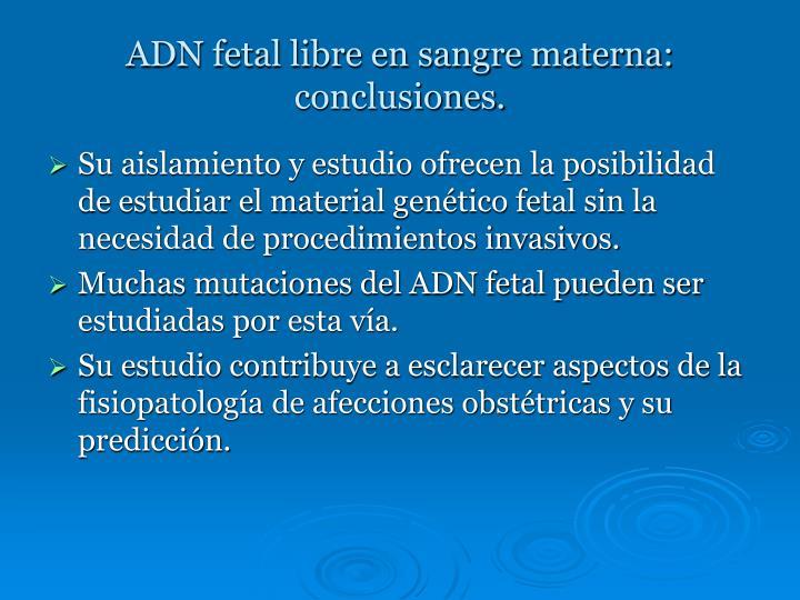 ADN fetal libre en sangre materna:
