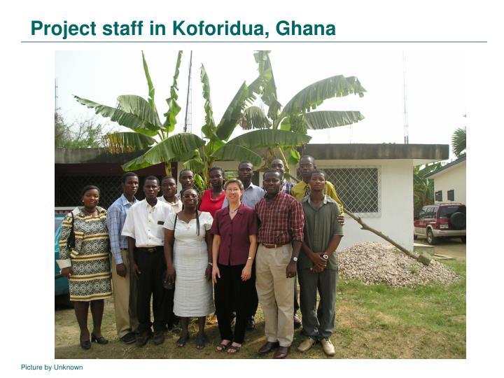 Project staff in Koforidua, Ghana