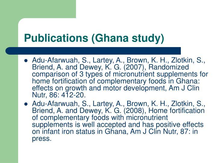 Publications (Ghana study)