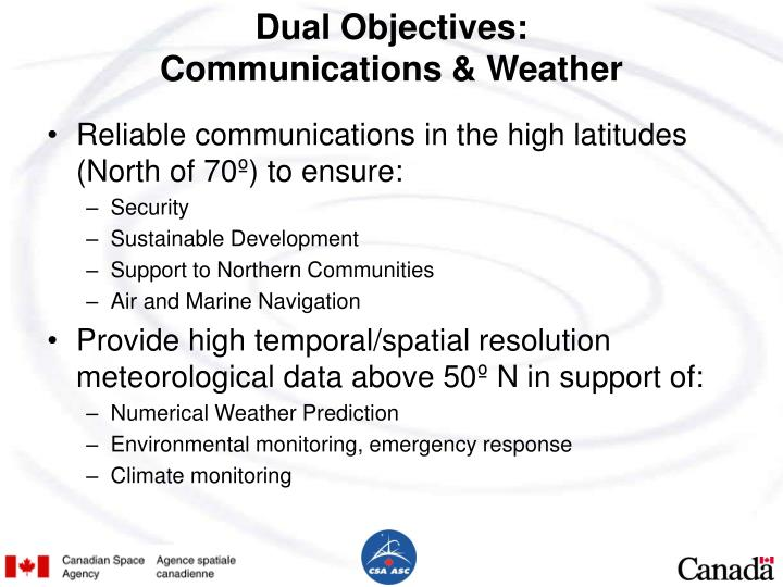 Dual Objectives: