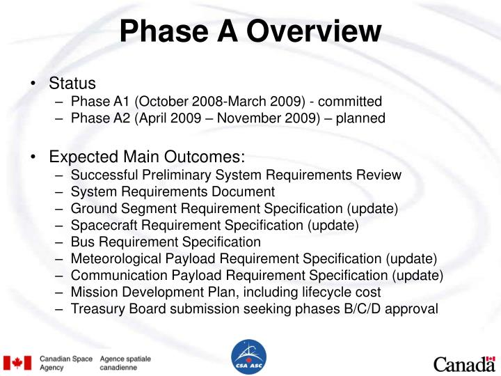 Phase A Overview