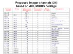 proposed imager channels 21 based on abi modis heritage