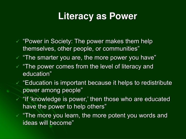 Literacy as Power