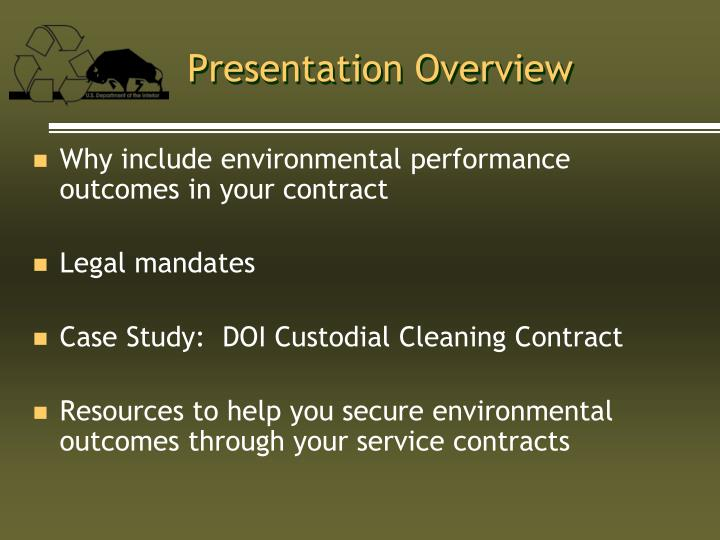 Why include environmental performance outcomes in your contract
